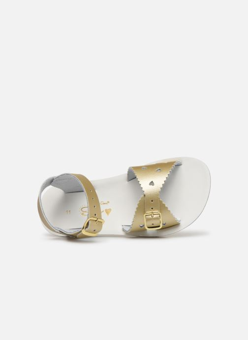 Sandalias Salt-Water Sweetheart Premium Oro y bronce vista lateral izquierda