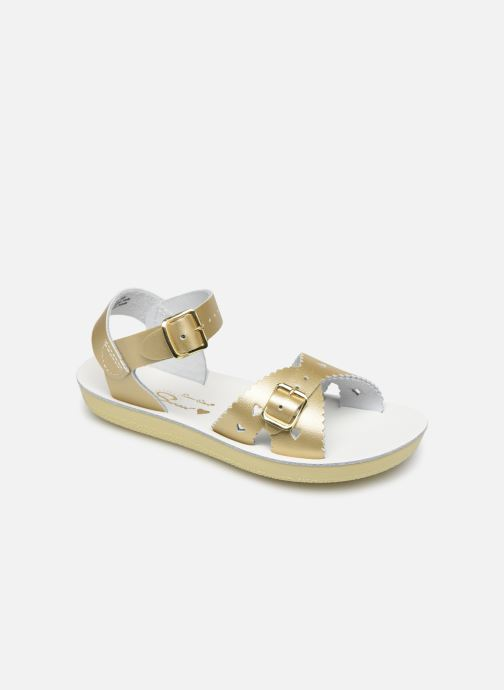 Sandalias Salt-Water Sweetheart Premium Oro y bronce vista de detalle / par