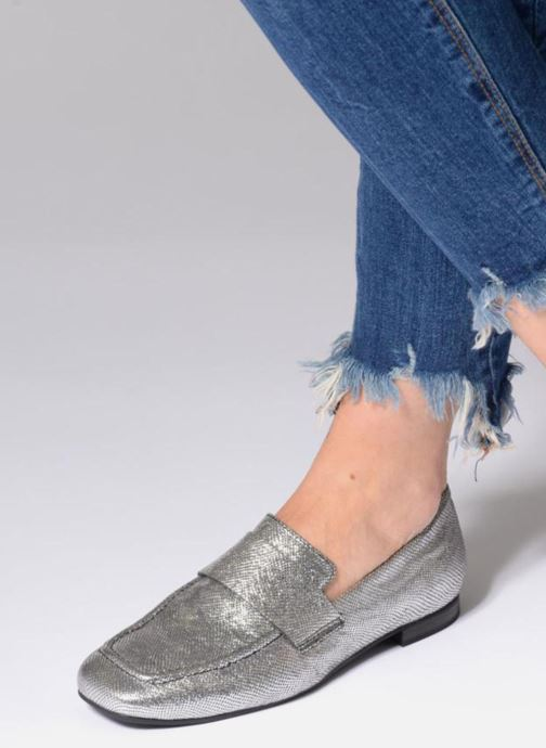 Mocassins Vagabond Shoemakers EVELYN / silver Argent vue bas / vue portée sac