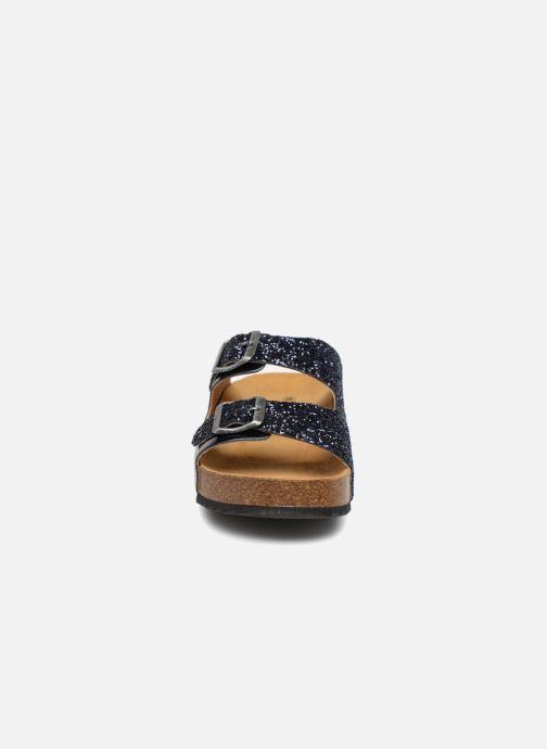 Mules et sabots Plakton CP Beta Bleu vue portées chaussures