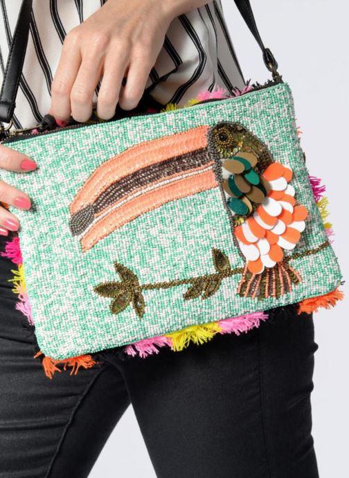 Sacs pochettes Essentiel Antwerp PIVORNO Large Beaded Pouch Multicolore vue bas / vue portée sac