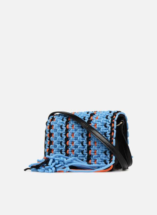 Bolsos de mano Essentiel Antwerp PIANTI Knotted Shoulderbag Azul vista lateral derecha