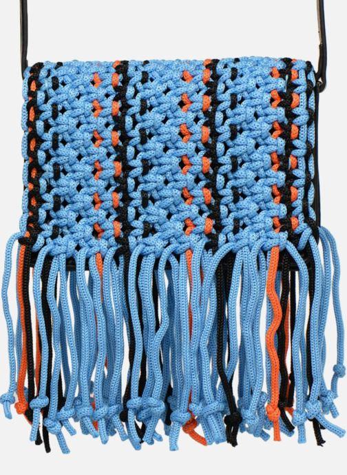 Bolsos de mano Essentiel Antwerp PIANTI Knotted Shoulderbag Azul vista lateral izquierda