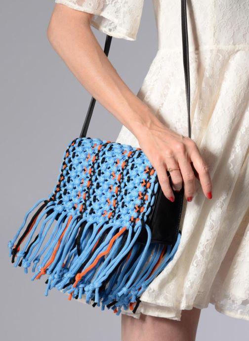 Bolsos de mano Essentiel Antwerp PIANTI Knotted Shoulderbag Azul vista de abajo