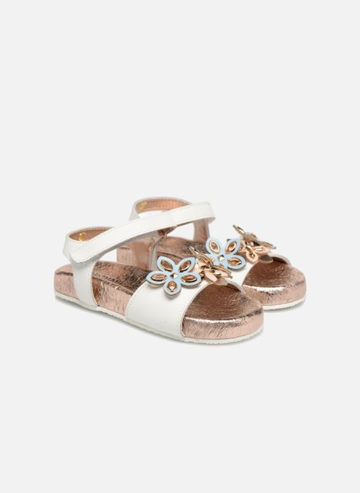 Sandals Michael Michael Kors Zia Marsha Way-T White 3/4 view