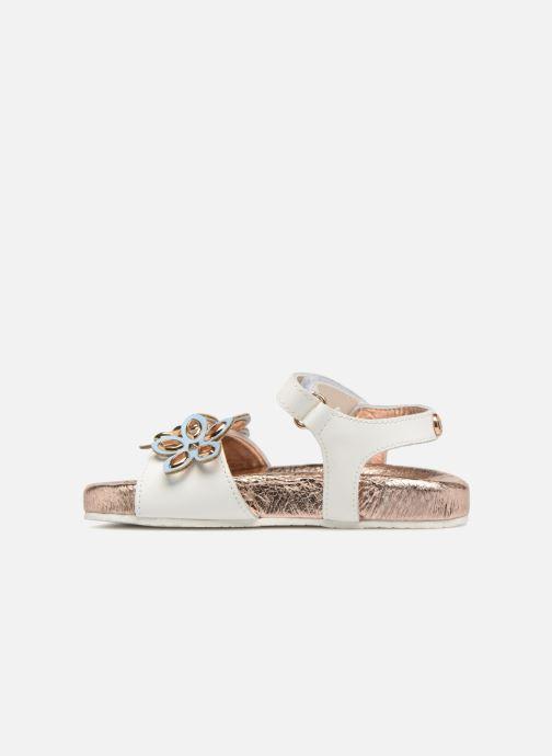 Sandali e scarpe aperte Michael Michael Kors Zia Marsha Way-T Bianco immagine frontale