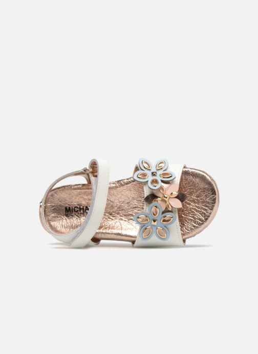 Sandals Michael Michael Kors Zia Marsha Way-T White view from the left