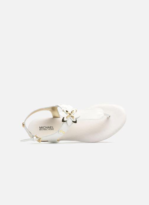 Sandali e scarpe aperte Michael Michael Kors Zia-Demi Heidi Bianco immagine sinistra