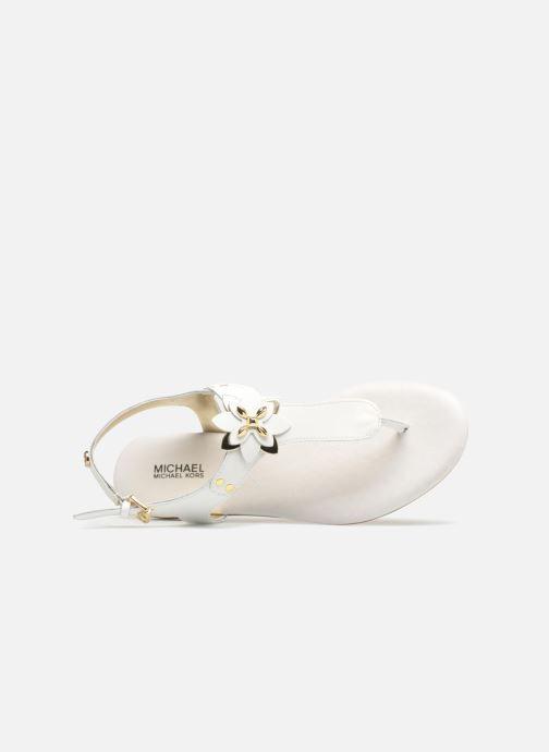 Sandales et nu-pieds Michael Michael Kors Zia-Demi Heidi Blanc vue haut