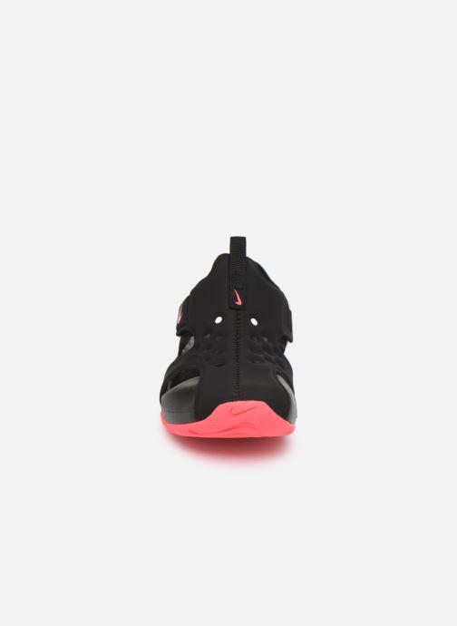 Sandali e scarpe aperte Nike Nike Sunray Protect 2 (Ps) Nero modello indossato