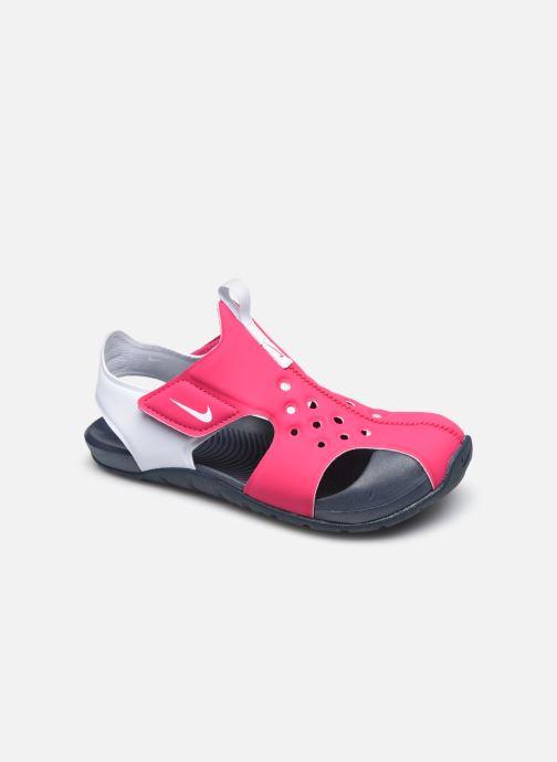 Sandales et nu-pieds Nike Nike Sunray Protect 2 (Ps) Rose vue détail/paire
