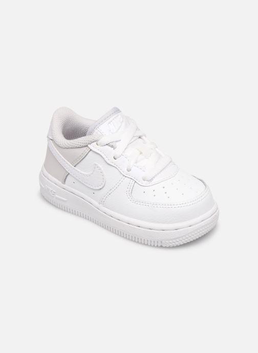 Baskets Nike Nike Force 1 (Td) Blanc vue détail/paire
