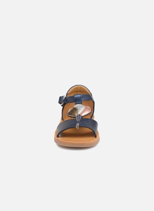 Sandales et nu-pieds Pom d Api Poppy Balloon Bleu vue portées chaussures