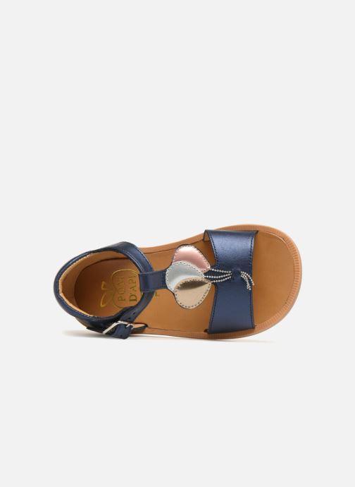 Sandales et nu-pieds Pom d Api Poppy Balloon Bleu vue gauche
