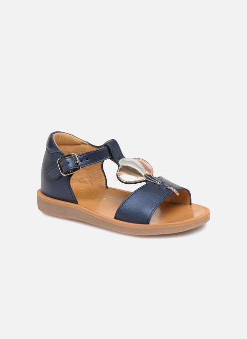 Sandales et nu-pieds Pom d Api Poppy Balloon Bleu vue détail/paire