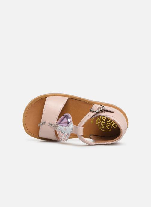 Sandales et nu-pieds Pom d Api Poppy Balloon Rose vue gauche