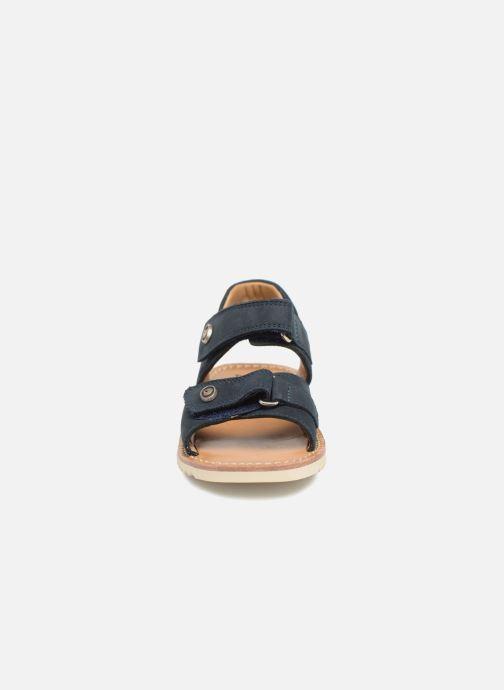 Sandales et nu-pieds Pom d Api Waff Easy Bleu vue portées chaussures