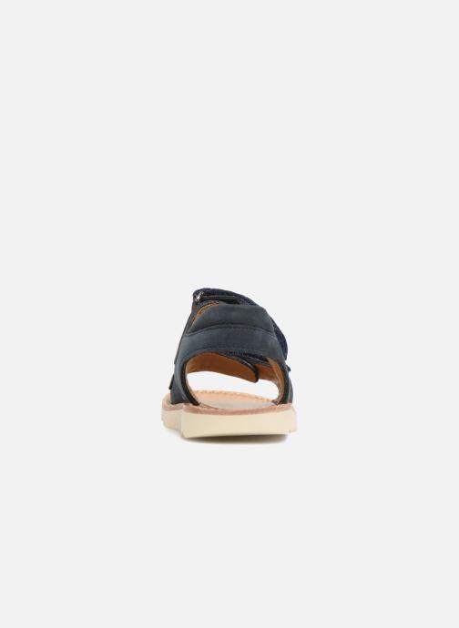 Sandales et nu-pieds Pom d Api Waff Easy Bleu vue droite
