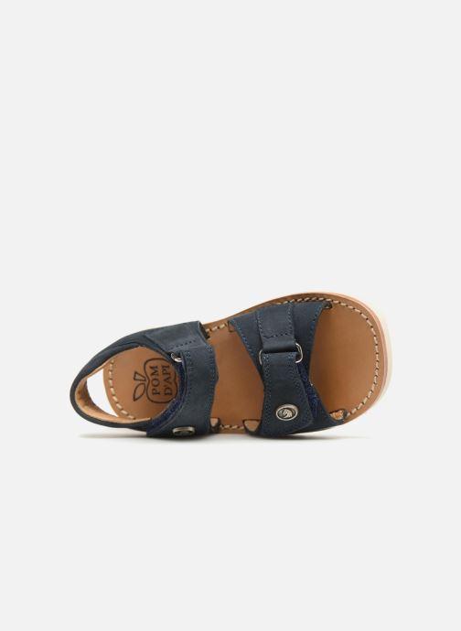 Sandales et nu-pieds Pom d Api Waff Easy Bleu vue gauche