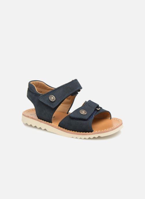 Sandales et nu-pieds Pom d Api Waff Easy Bleu vue détail/paire