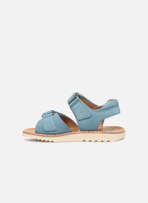 Sandales et nu-pieds Pom d Api Waff Easy Bleu vue face