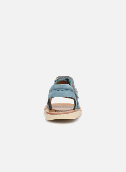 Sandals Pom d Api Waff Easy Blue view from the right