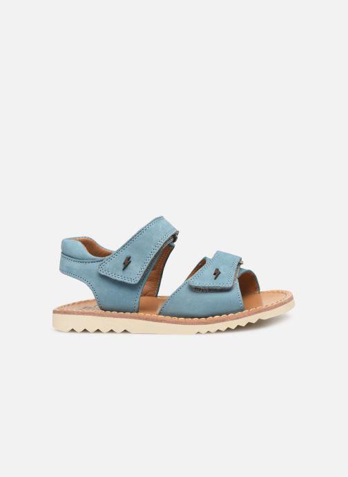 Sandales et nu-pieds Pom d Api Waff Easy Bleu vue derrière