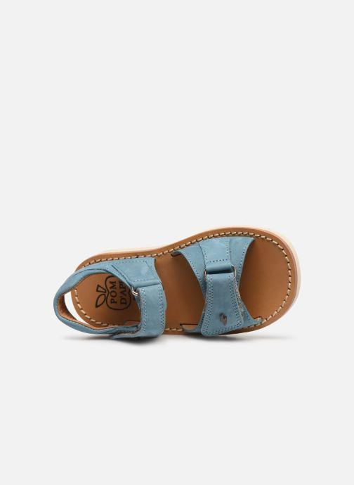 Sandalen Pom d Api Waff Easy Blauw links