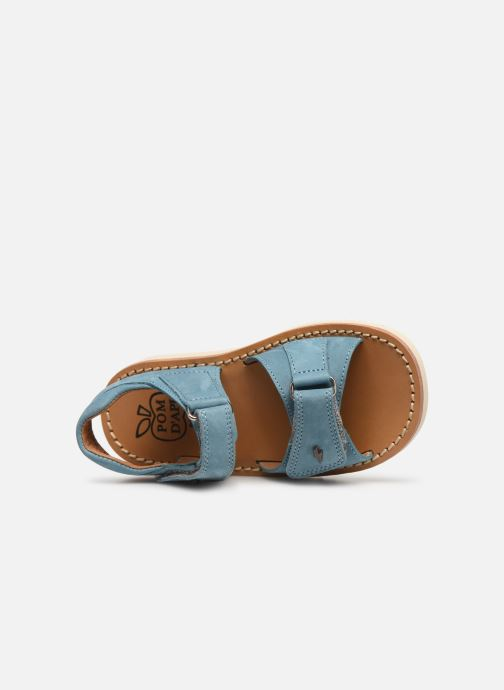 Sandals Pom d Api Waff Easy Blue view from the left