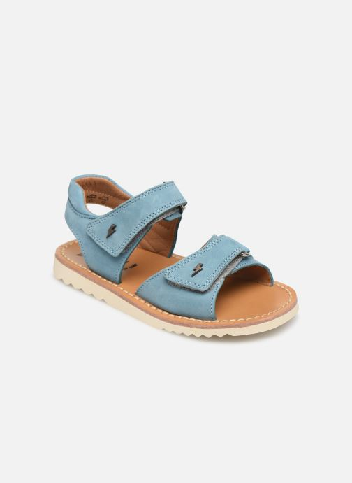 Sandals Pom d Api Waff Easy Blue detailed view/ Pair view