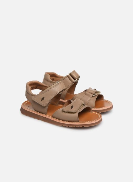 Sandales et nu-pieds Pom d Api Waff Easy Gris vue 3/4