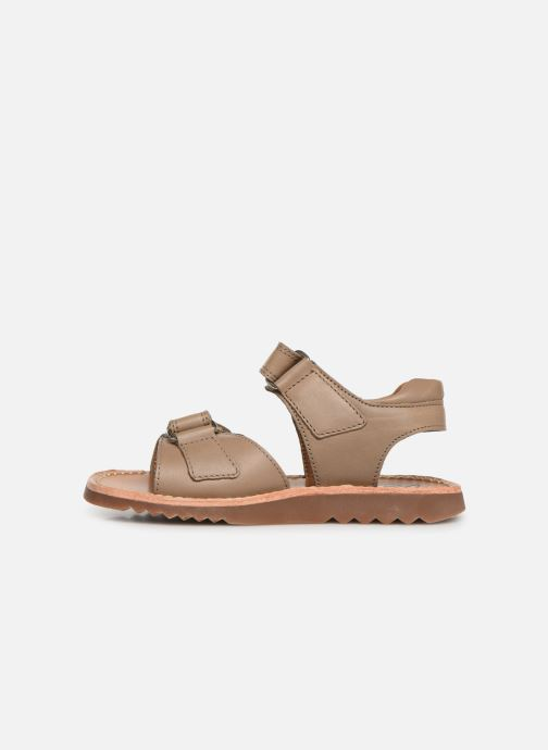 Sandales et nu-pieds Pom d Api Waff Easy Gris vue face