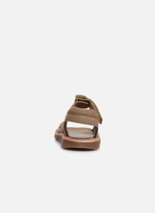 Sandales et nu-pieds Pom d Api Waff Easy Gris vue droite