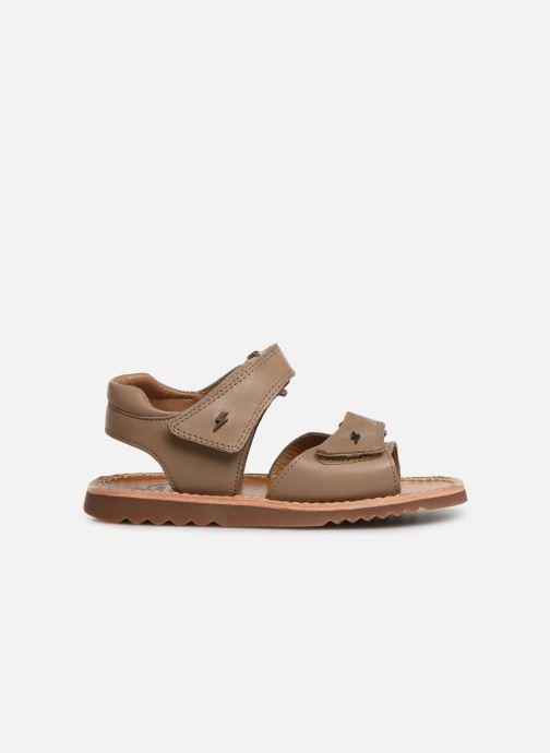 Sandales et nu-pieds Pom d Api Waff Easy Gris vue derrière