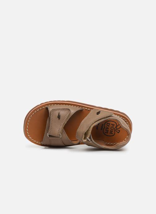 Sandales et nu-pieds Pom d Api Waff Easy Gris vue gauche