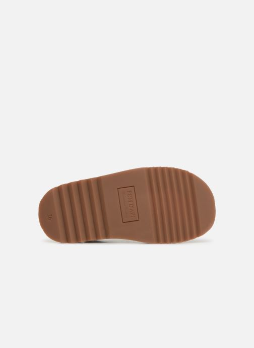Sandales et nu-pieds Pom d Api Waff Easy Gris vue haut