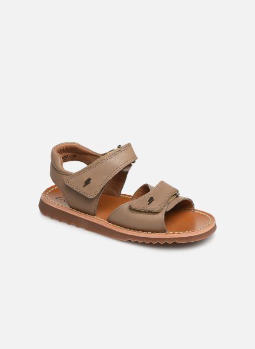 Sandales et nu-pieds Pom d Api Waff Easy Gris vue détail/paire