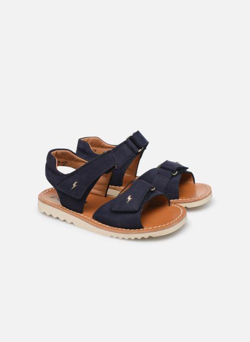 Sandali e scarpe aperte Pom d Api Waff Easy Azzurro immagine 3/4