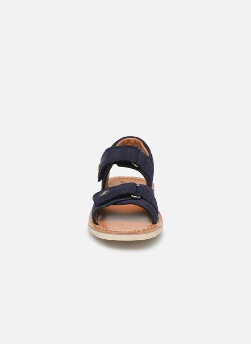 Sandalias Pom d Api Waff Easy Azul vista del modelo
