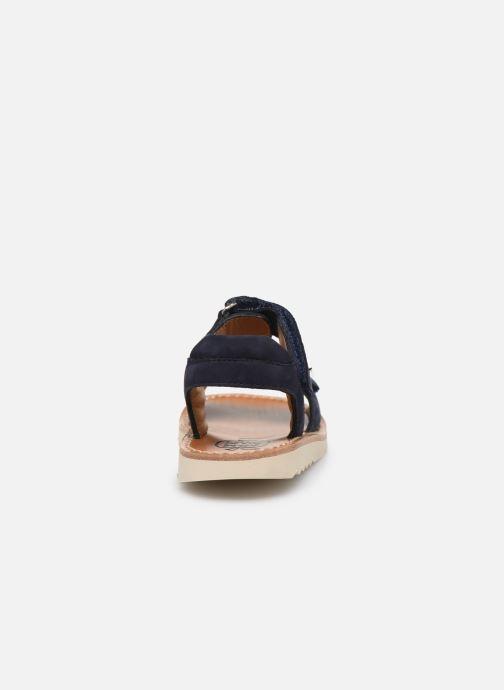 Sandalias Pom d Api Waff Easy Azul vista lateral derecha
