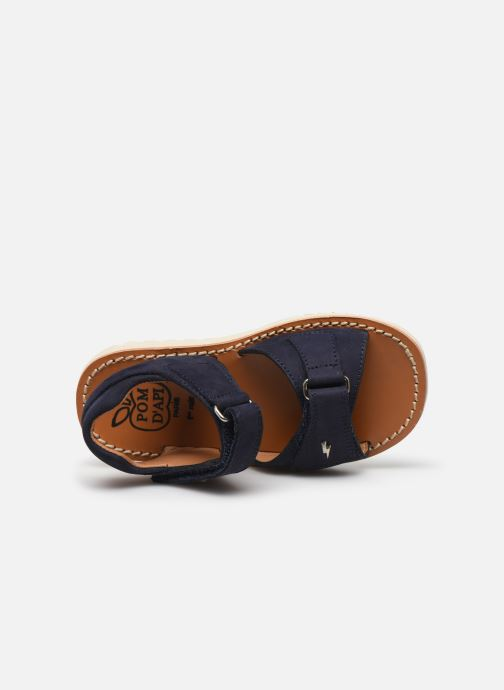 Sandali e scarpe aperte Pom d Api Waff Easy Azzurro immagine sinistra