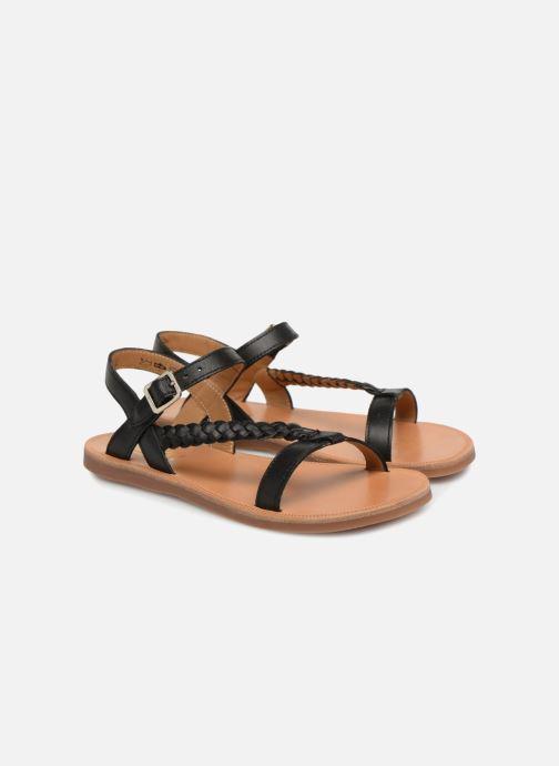 Sandals Pom d Api Plagette Antik Black 3/4 view
