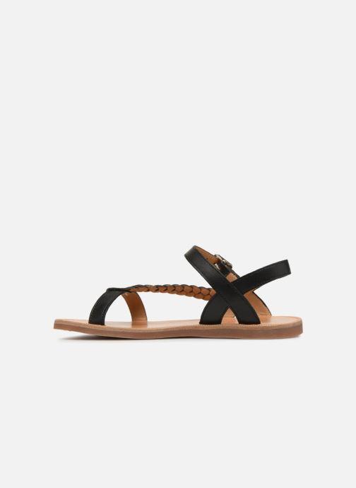 Sandals Pom d Api Plagette Antik Black front view
