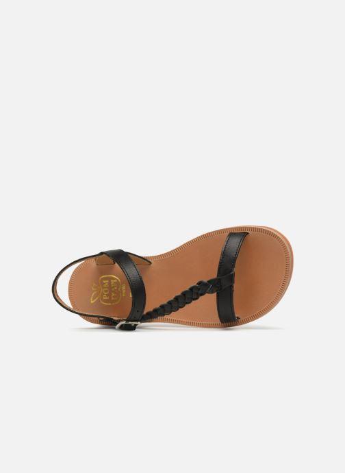 Sandals Pom d Api Plagette Antik Black view from the left