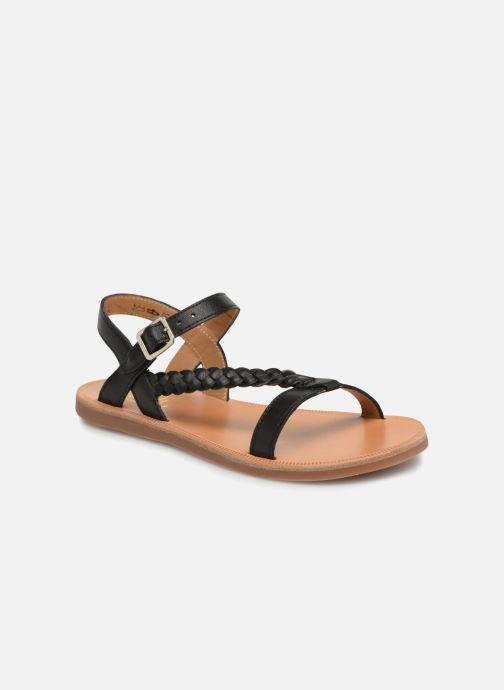 Sandals Pom d Api Plagette Antik Black detailed view/ Pair view