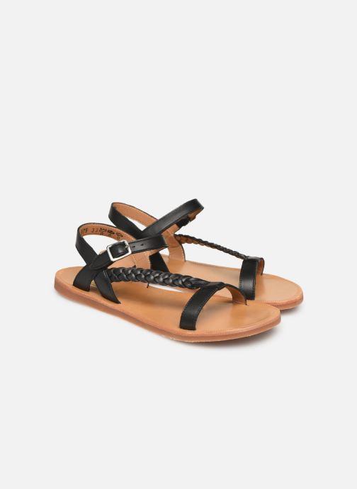 Sandales et nu-pieds Pom d Api Plagette Antik Noir vue 3/4