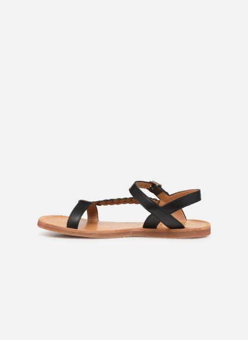 Sandales et nu-pieds Pom d Api Plagette Antik Noir vue face