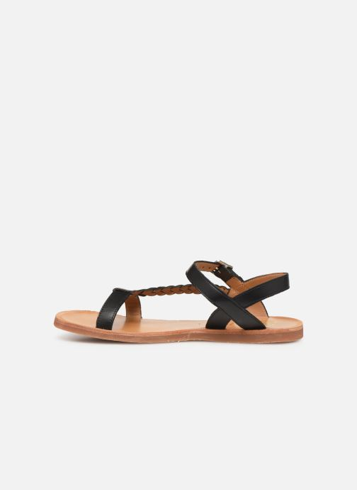 Sandaler Pom d Api Plagette Antik Sort se forfra