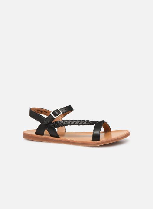 Sandales et nu-pieds Pom d Api Plagette Antik Noir vue derrière