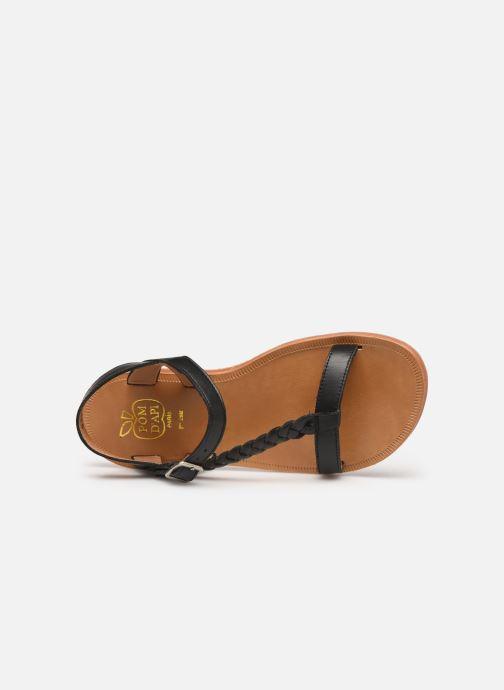 Sandaler Pom d Api Plagette Antik Sort se fra venstre
